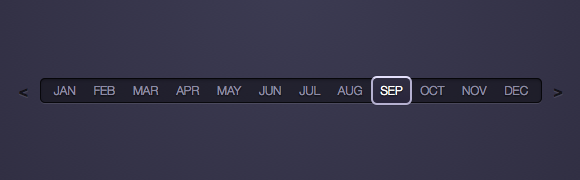 screenshot of css3 month-picker